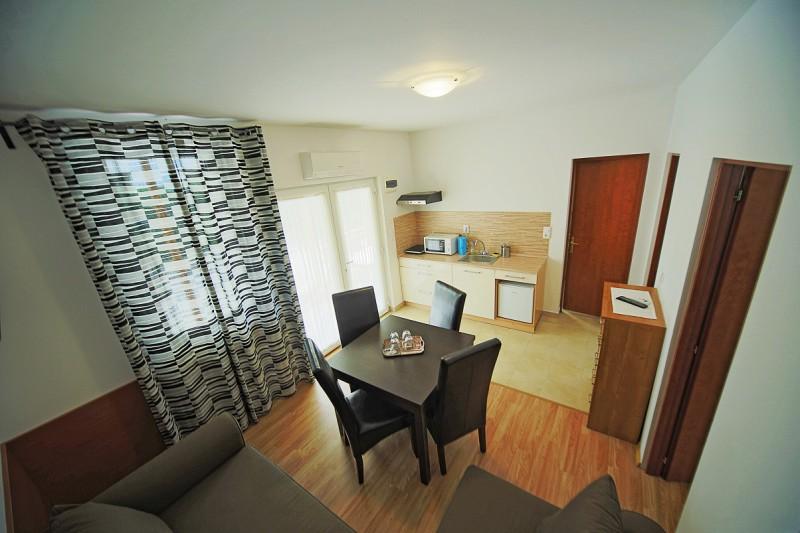 4 fős apartman nappali.