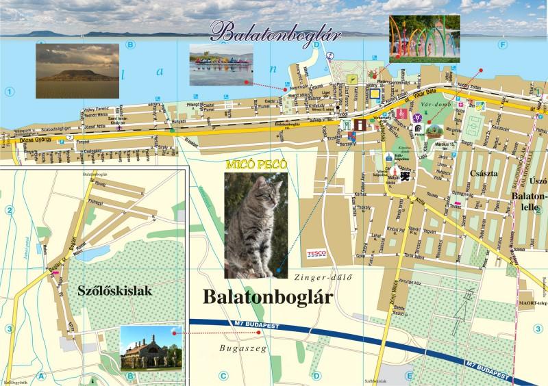 Boglár térkép